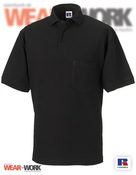 Workwear Polo schwarz Herren R-011M