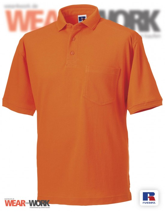 Workwear Polo orange Herren R-011M