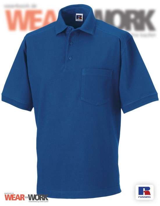 Workwear Polo blau Herren R-011M