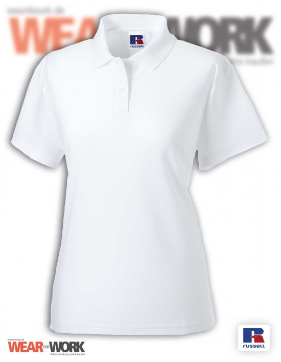 Workwear Polo weiss R-539F Damen