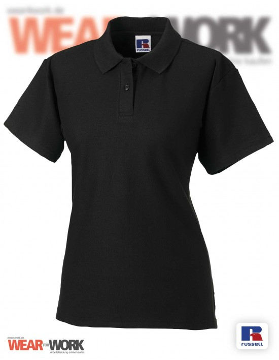 Workwear Polo Damen R-539F schwarz
