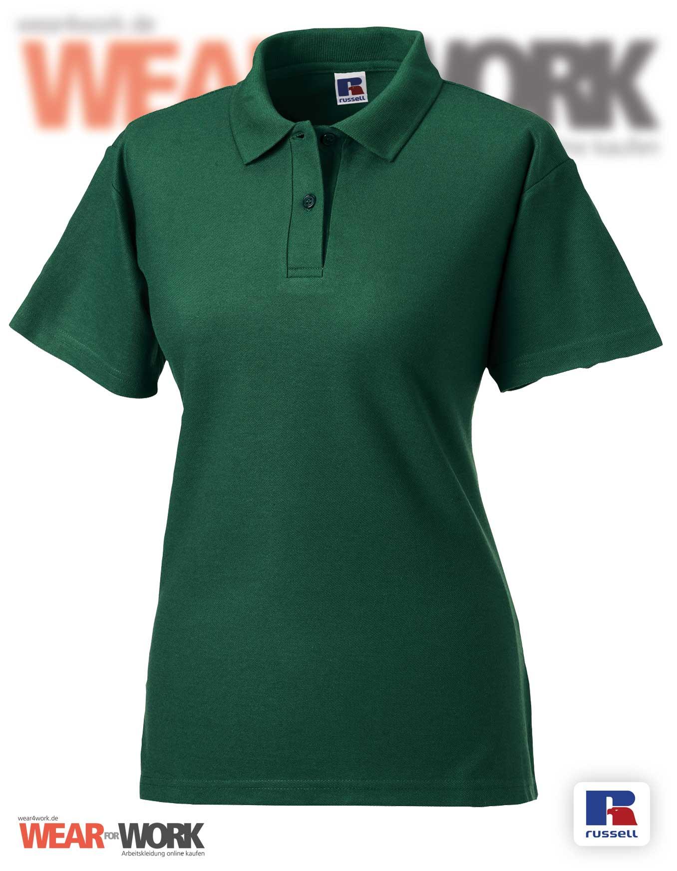 bc0280c5b1734 Workwear Polo-Shirt grün Damen R-539F Russell Europe