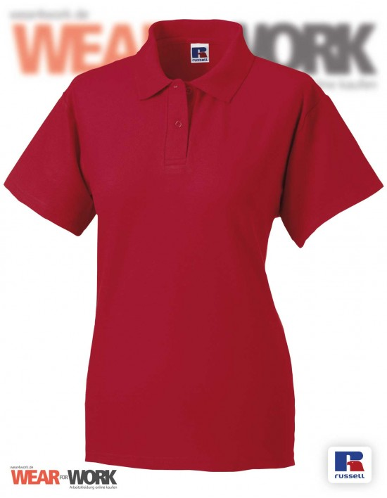 Workwear Polo rot R-539F Damen
