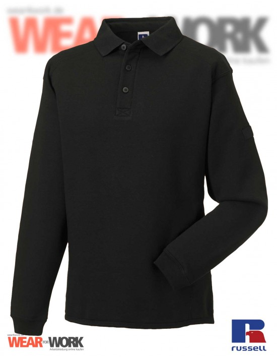 Polo Sweat schwarz R-012M