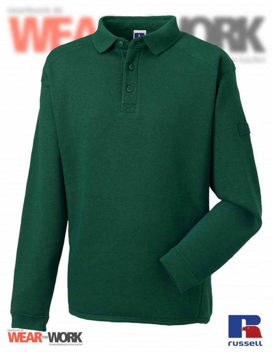 Polo Sweat grün R-012M