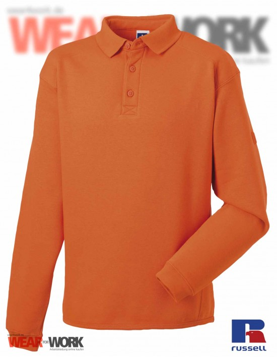 Polo Sweat orange R-012M