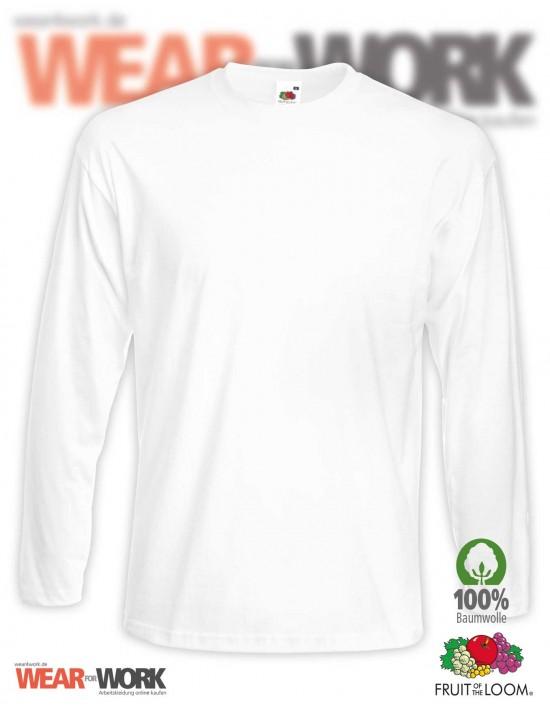Langarm T-Shirt weiss