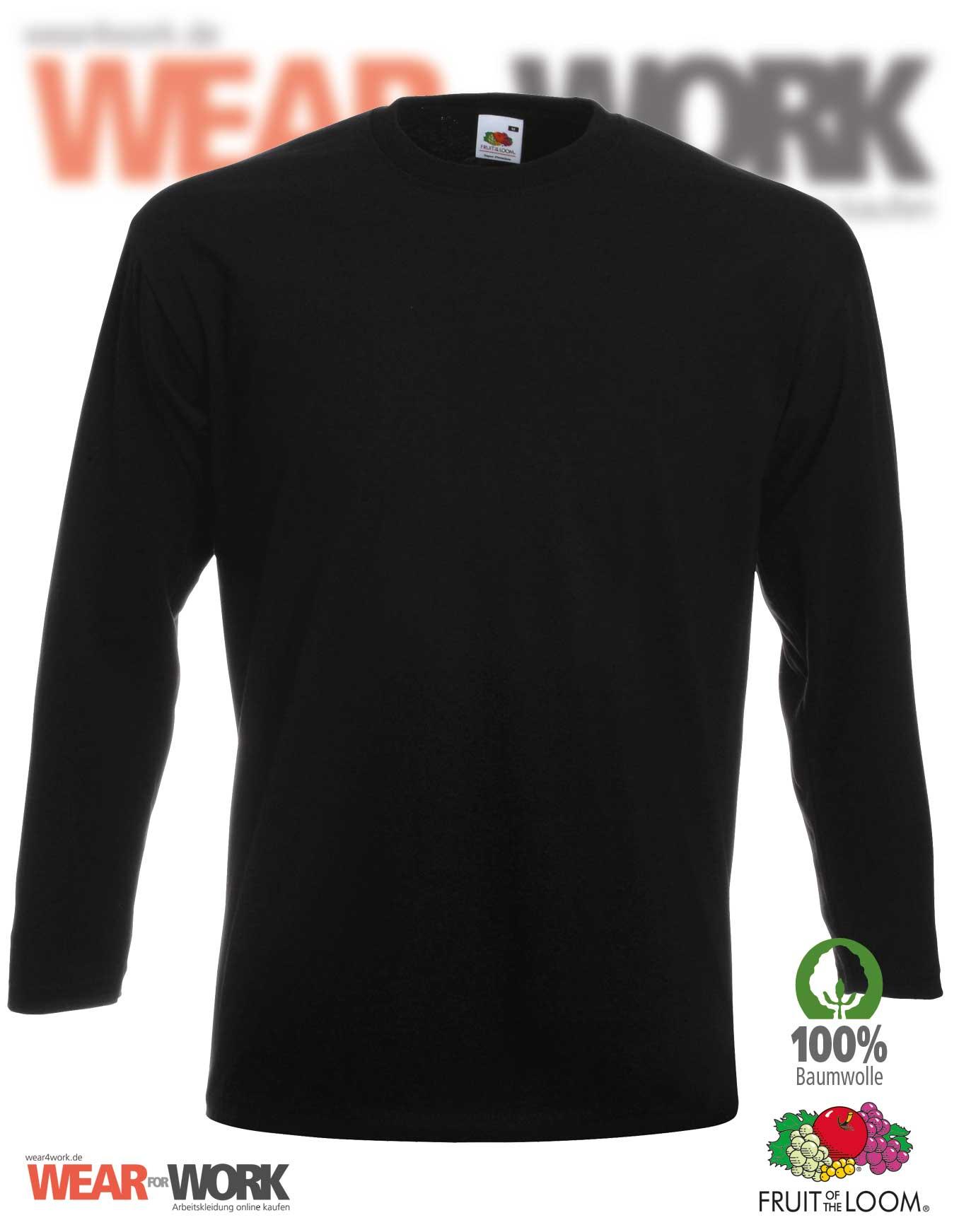 02f7c6758f57 Workwear T-Shirt langarm schwarz 61-042-0   Fruit of the Loom