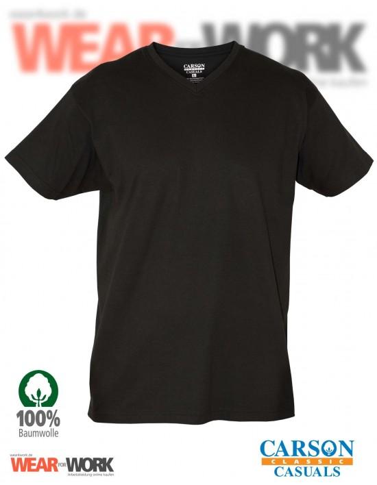 V-Neck T-Shirt schwarz CVT