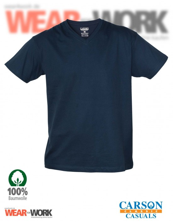 V-Neck T-Shirt marine CVT
