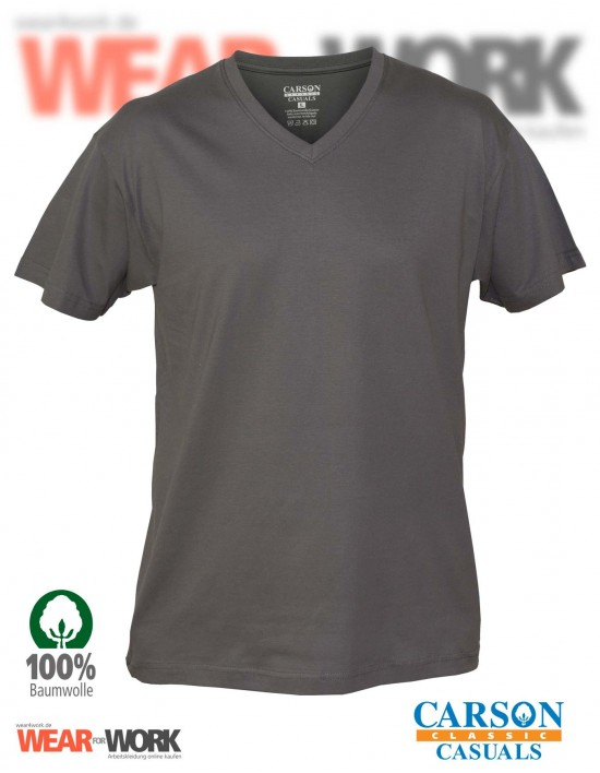 V-Neck T-Shirt grau CVT