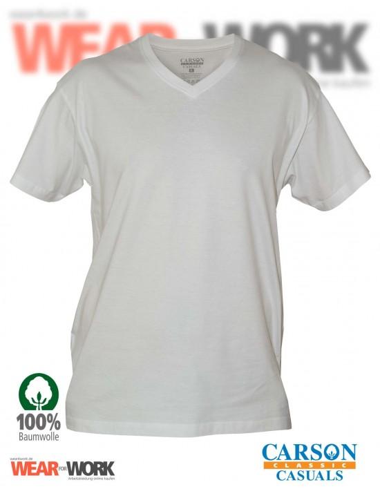 V-Neck T-Shirt weiss CVT