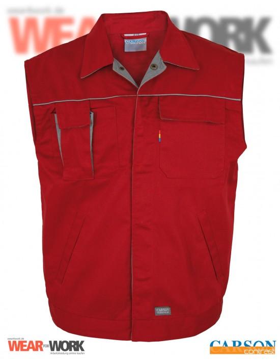 Arbeitsweste rot/grau CC700