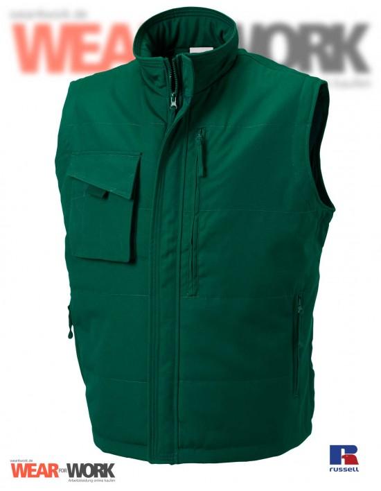 Arbeitsweste grün R-014M | bottle green