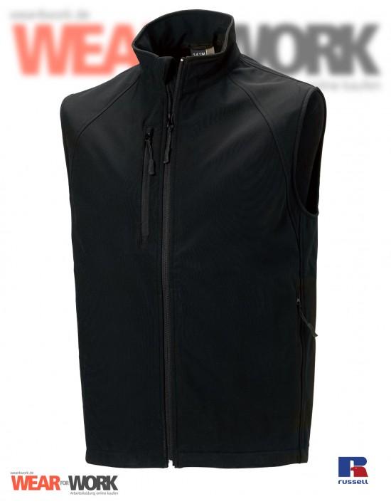 Softshell Weste schwarz R-141   black
