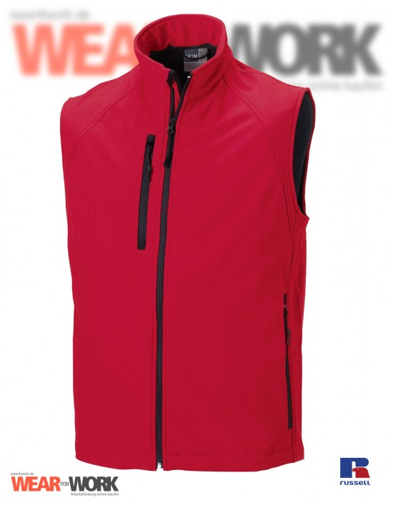 Softshell Weste rot R-141 | classic red